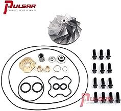 Pulsar Turbo Billet Compressor Wheel + Rebuild Kit Repair Kit Service Kit for 94-03 Powerstroke 7.3L OBS/E99/Super Duty TP38/GTP38 turbos F250 F350 F450