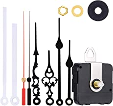 Satisfounder Non-Ticking Hands Quartz DIY Wall Clock Movement Mechanism DIY Repair Parts Replacement with 3 Different Pairs of Hands (1/2 Inch Total Shaft Length)