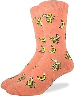 Good Luck Sock Men's Banana Crew Socks,Red,Shoe: 7-12