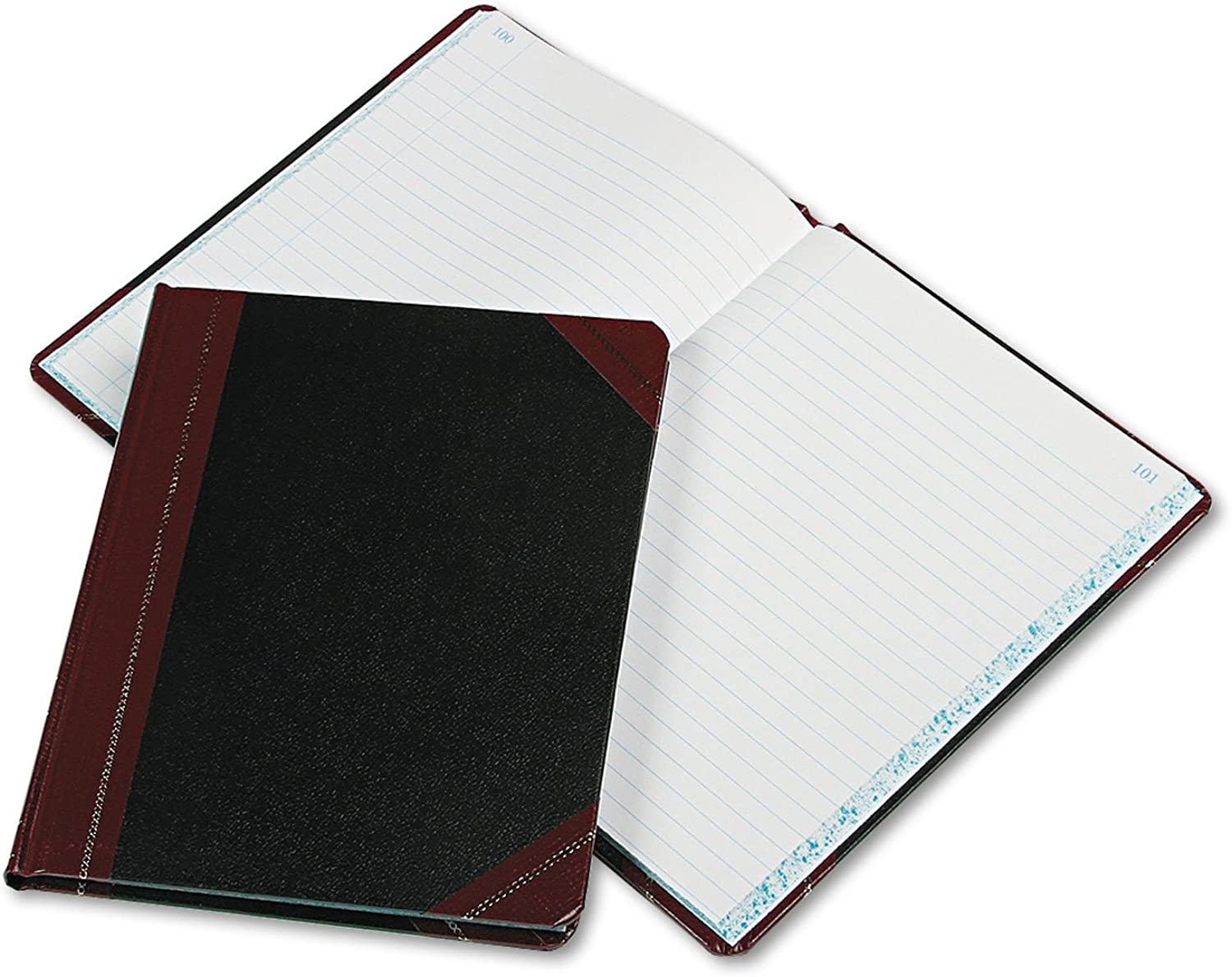 Boorum & Pease 38-150-R Record Account Book- Record Rule- Black Red- 150 Pages- 9 5 8 x 7 5 8
