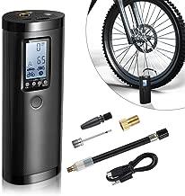 Vastar Compressore Portatile, Compressore Aria con LCD Display, Banca di Potere Mini Compressore per Moto, Auto, Bicicletta e Palla