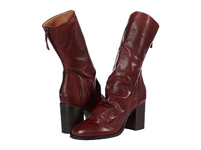 Free People Elle Block Heel Boot (Dark Red) Women