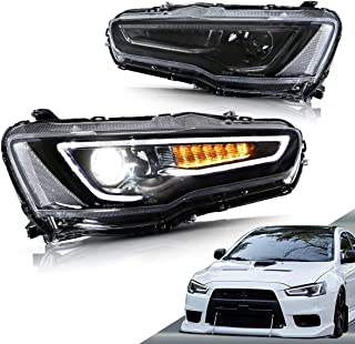 Vland Led Mitsubishi Head Lights for Mitsubishi Lancer Evolution X Series,Head Lights are Equipped With DRL Function Built...
