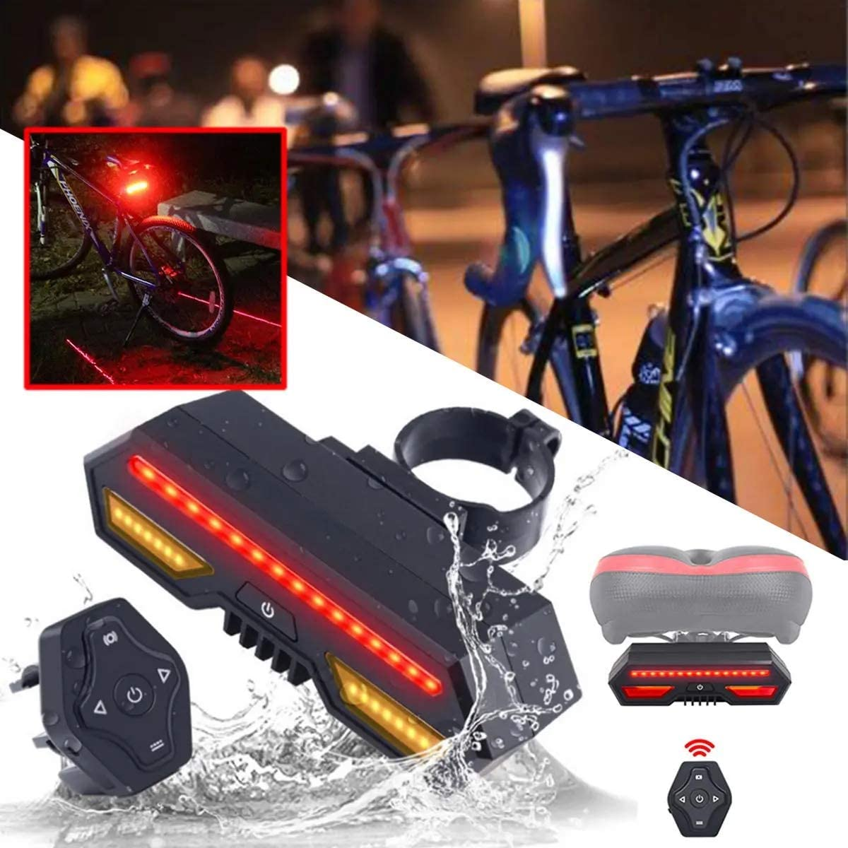 ZMX Bicycle Tail online shopping Light Remote Indicator Control Signal LED Turn mart