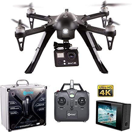 $149 Get Contixo F17+ RC Quadcopter Photography Drone 4K Ultra HD Camera 16MP, Brushless Motors, 1 High Capacity Battery, Supports GoPro Hero Cameras, Alum Hard Case