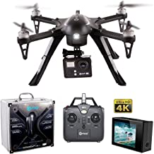 Contixo F17+ RC Quadcopter Photography Drone 4K Ultra HD Camera 16MP, Brushless Motors, 1 High Capacity Battery, Supports GoPro Hero Cameras, Alum Hard Case