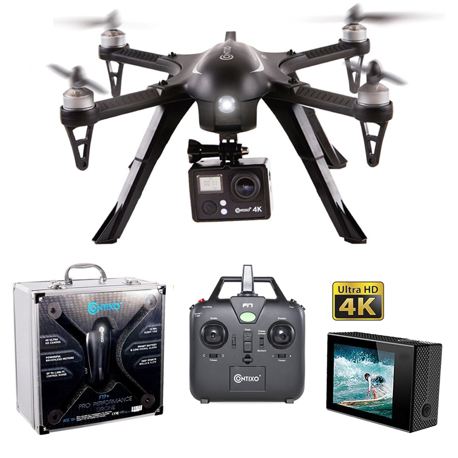 Contixo F17 Quadcopter Photography Brushless