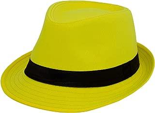Classic Italy Trilby Wool Felt Trilby Hat Size 59 cm Yellow