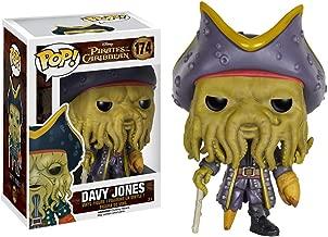 Funko Davy Jones: Pirates of The Caribbean - Dead Men Tell No Tales x POP! Disney Vinyl Figure & 1 POP! Compatible PET Plastic Graphical Protector Bundle [#174 / 07109 - B]