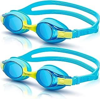 vetoky Occhialini da Nuoto, Anti-Appannamento Specchio Occhiali da Nuoto Agonistico Protezione UV Impermeabile Anti-Perdita Confortevole Regolare Professionaleper Adulti, Bambini