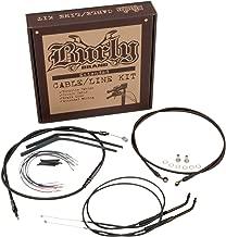 Burly Brand Cable/Brake Line Kit for Ape Hangers for Harley Davidson 2007-10 FLST/C/F/N models - 14