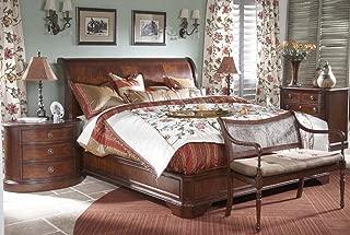 Heritage Mahogany 4 Piece Queen Sleigh Bed Set