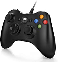 Manette pour Xbox 360 Manette Filaire avec USB Câble de 2 Mètre pour Xbox 360 / PC Windows 10/8 / 7