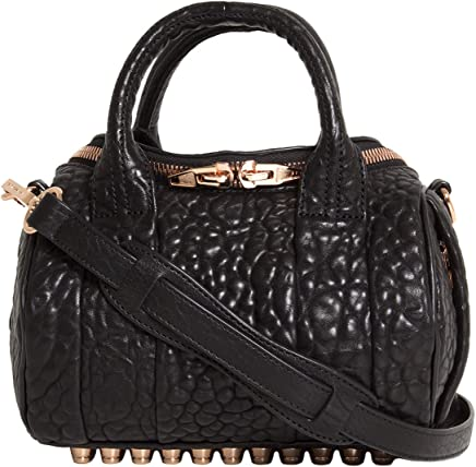 90da544120 Alexander Wang Mini Rockie in Pebbled Black with Rose Gold Donna Mod.  20S0066