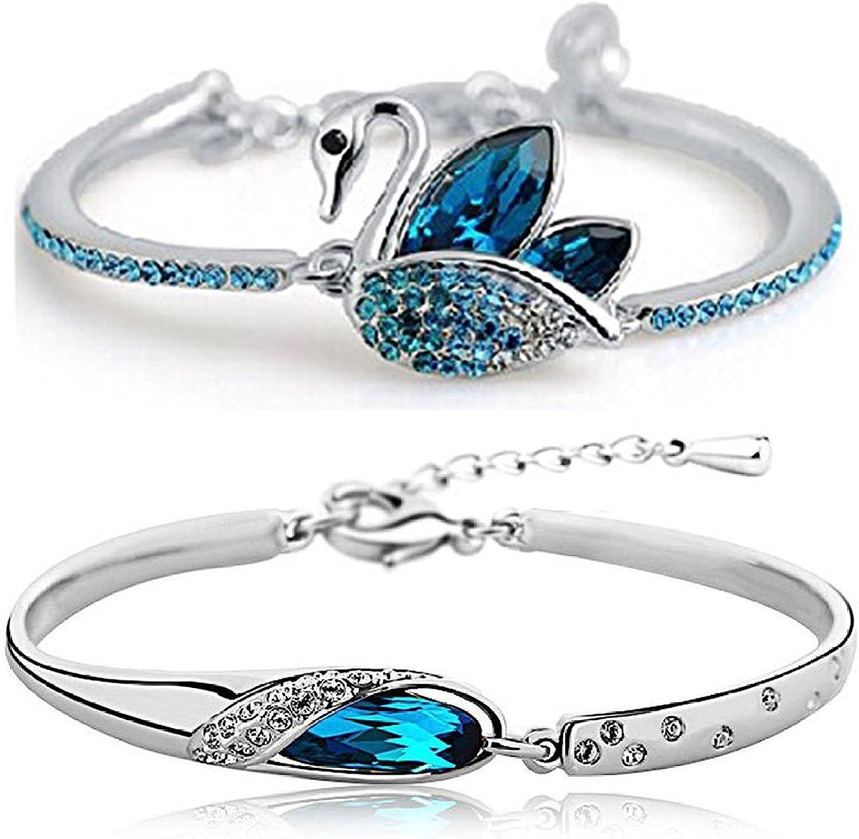 YouBella Artificial Jewellery Designer Crystal Bracelets for Wom