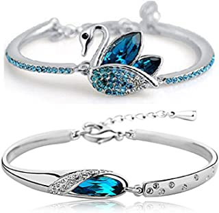 79bcde527b0e40 YouBella Artificial Jewellery Designer Crystal Bracelets for Women Stylish  Bangles Jewellery for Girls and Women