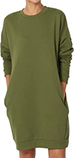 Casual Oversized Crew Or V-Neck Sweatshirts Loose Fit Pullover Tunic S~3XL