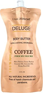 Coffee Body Butter -100% Natural. Shea Butter, Coconut Oil, Hemp Seed Oil, Avocado Oil, Jojoba Oil. 6 oz. -Eco-Friendly Packaging.