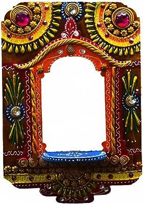 eCraftIndia Wall Hanging Kundan Mandir(Temple)