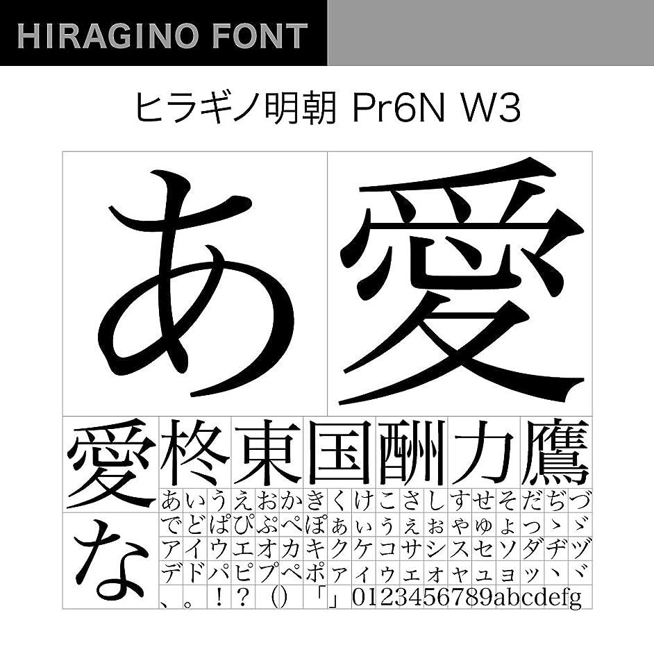 立法ミュート果てしないOpenType ヒラギノ明朝 Pr6N W3 [ダウンロード]