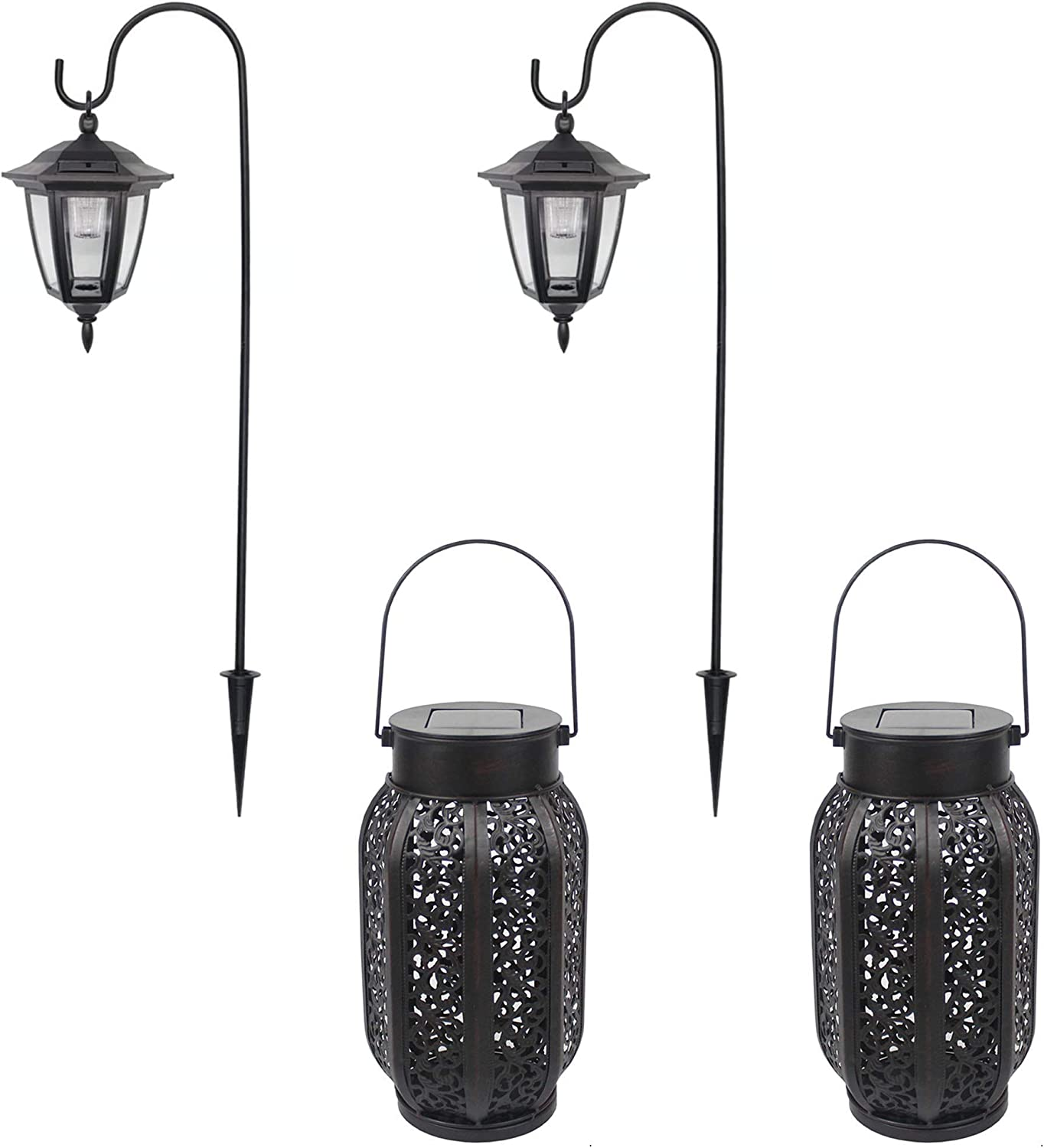 MAGGIFT 26 Inch Hanging Solar low-pricing Lights Dual Ligh Shepherd Use Hook Store