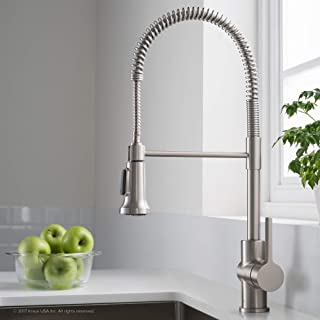 STJDM Kitchen Faucet,Deck Mounted Kitchen Sink Faucet Hot and Cold Water Mixer Tap Crane Chrome Antique Bronze Finished Copper Brush Nickel BrushNickel