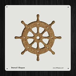 Ship Wheel Boat Sail Sailor Style 19540 DIY Plastic Stencil Acrylic Mylar Reusable