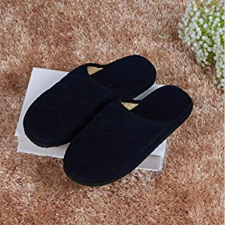 Non-Slip Home Women's Indoor Slippers, Washable Cotton Soft Breathable Slip on Shoes with Fuzzy Plush Lining, Anti-Skid Rubber Sole,C,35