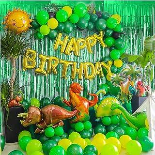 Dinosaur Birthday Party Supplies - 97PCS Jurassic Park Jungle Theme Party Decorations for Kids Boys & Girls Dinosaur Party...