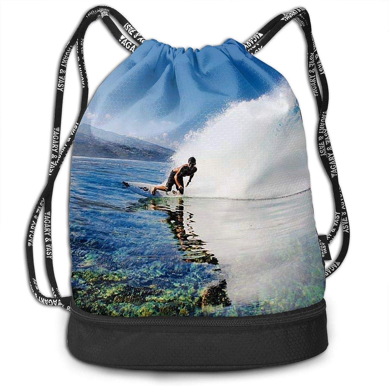 65dce39e1860 Gymsack Surfing Sky Print Drawstring Bags Simple String Bag bluee ...