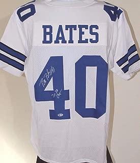 Bill Bates Dallas Cowboys Tennessee Autographed XL Jersey Signed Beckett COA