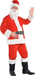 Amscan Flannel Santa Suit for Adults, Christmas Costume, 3 XL, with Included Accessories