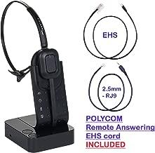 Polycom Compatible Wireless Headset ip320 ip321 ip330 ip331 ip335 ip430 ip450 ip550 ip560 ip650 ip670 VVX300 VVX310 VVX400 VVX410 VVX500 VVX600 VVX1500