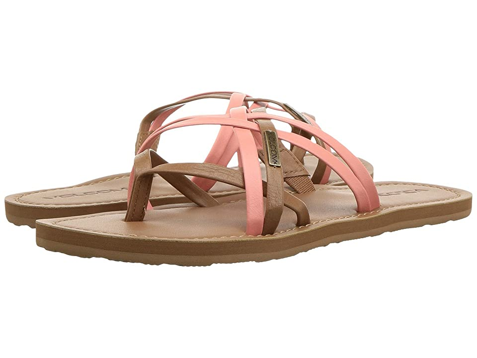 Volcom Strap Happy Sandals (Coral) Women