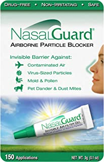 NASALGUARD Allergy Relief and Allergen Blocker Nasal Gel - Drug-Free and Proven Safe for Pollen Allergy Sufferers, Approve...