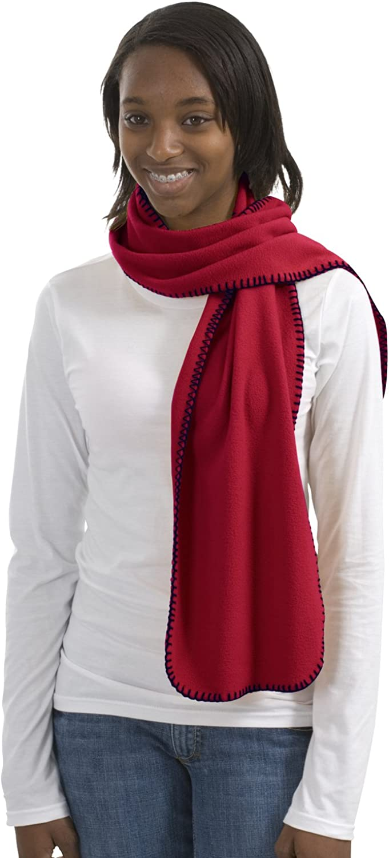 Port Authority R-Tek Fleece Scarf OSFA Red