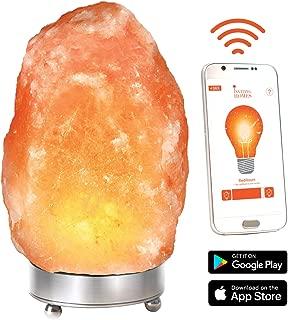 Himalayan Pink Salt Lamp w/WiFi Dimmer Cord Bulb