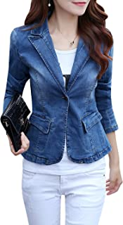 women denim blazer
