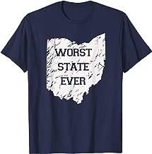 Worst State Ever, Ohio Sucks Gift Tee Shirt