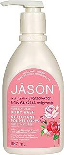 Jason Natural Body Wash and Shower Gel, Invigorating Rosewater 30 oz
