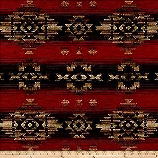 J. Allen Fabrics Southwest Chenille Navajo Fabric, Fire, Fabric By The Yard