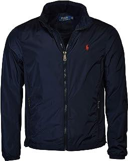 Men's Nylon Hooded Windbreaker Jacket