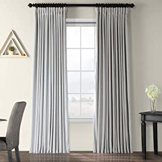 VPCH-VET160401-96 Signature Doublewide Blackout Velvet Curtain,Reflection Grey,100 X 96