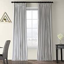 Half Price Drapes VPCH-VET160401-96 Signature Doublewide Blackout Velvet Curtain,Reflection Grey,100 X 96