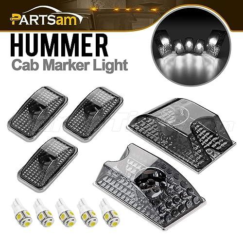 03-09 HUMMER H2 SUV SUT FRONT BUMPER CORNER COVER TRIM FRAME ABS CHROME 2PCS SET