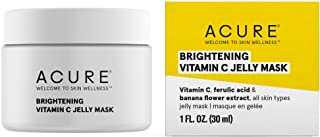 ACURE Brightening Vitamin C Jelly Mask | 100% Vegan | For A Brighter Appearance | Ferulic Acid & Banana Flower Extract | A...