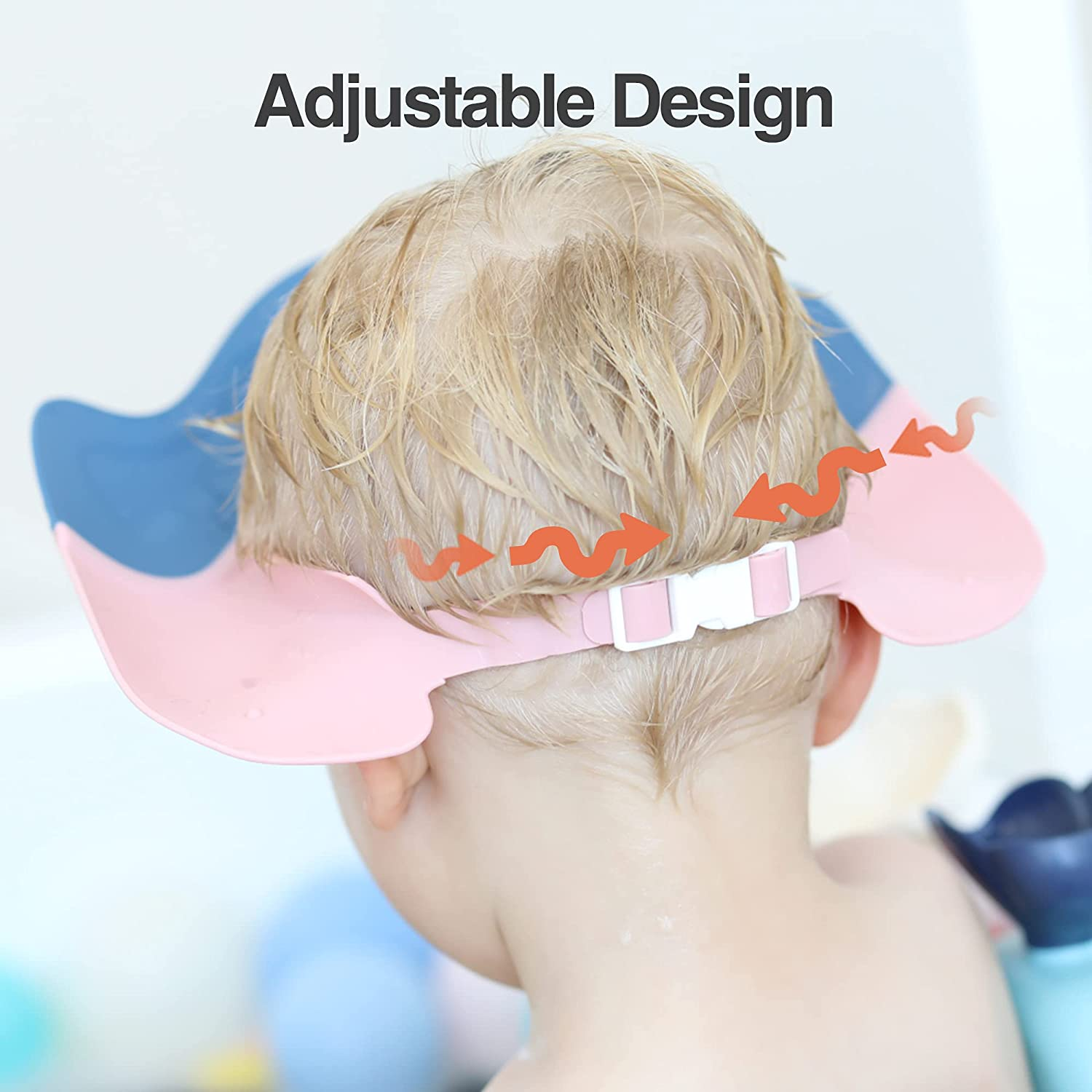 youocomu Baby Shower Cap Shower Visor Bathing Hat for Toddlers Waterproof Shampoo Cap Adjustable Protect Infants Eyes Ears
