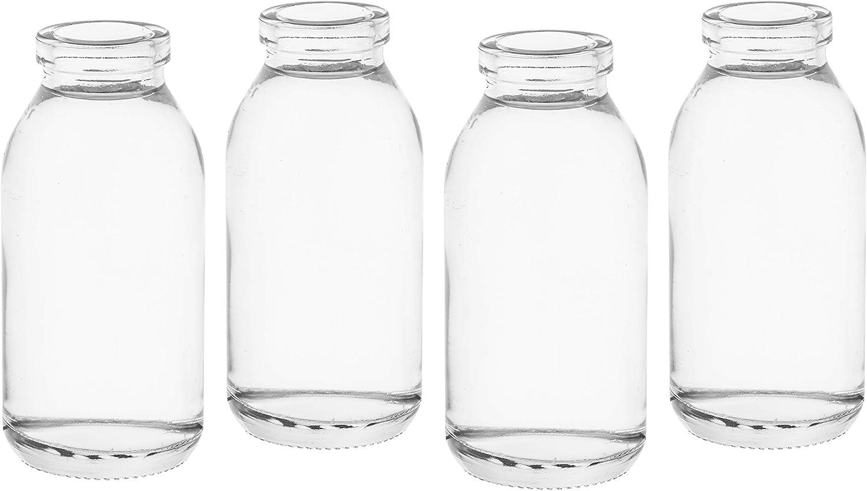 Casavetro - 12 x Botellas pequeñas de jarrones Cristal 10,5 cm de Alto c dko de TR Vial de rústico Vintage