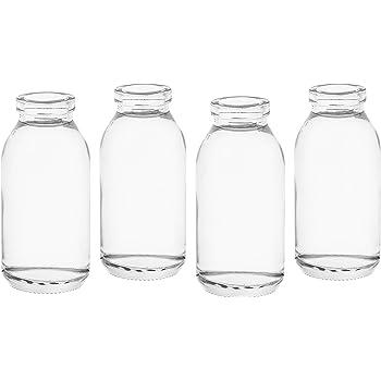 Casa-vetro Lot de 24 petites bouteilles en verre avec n/œud et n/œud en verre Transparent