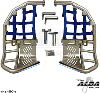 Yamaha YFZ 450R / YFZ 450R SE (2009-2019) Propeg Nerf Bars Silver Bars w/Blue Net